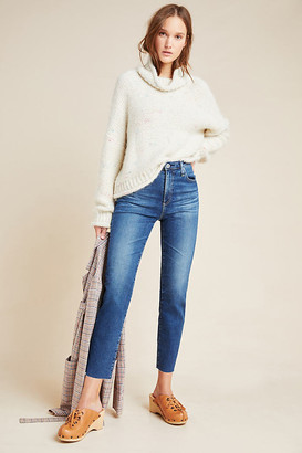 AG Jeans The Isabelle High-Rise Straight Cropped Jeans By in Blue Size 27
