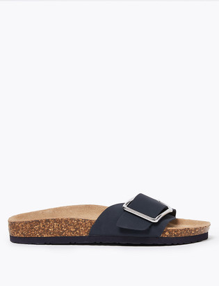 Marks and Spencer Leather Buckle Open Toe Slider