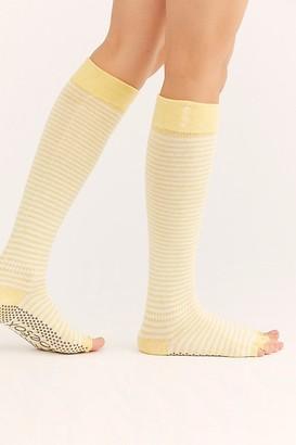 Toesox Provence Scrunch Stripe Knee-High Socks