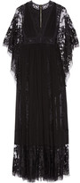 Elie Saab Lace-paneled Chiffon Gown - Black