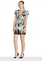 Milly Painted Floral Chloe Vneck Dress