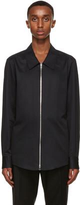 Ermenegildo Zegna Couture Black Cotton Shirt