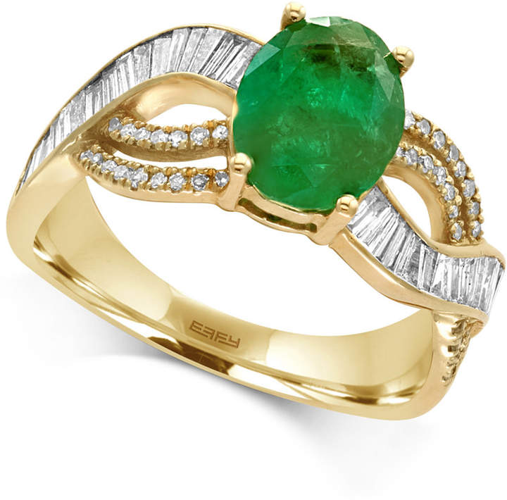 Effy Brasilica Emerald (1-1/2 ct. t.w.) and Diamond (1/2 ct. t.w.) Ring in 14k Gold, Created for Macy's