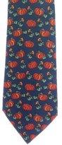 Hermes Pumpkin Print Silk Tie