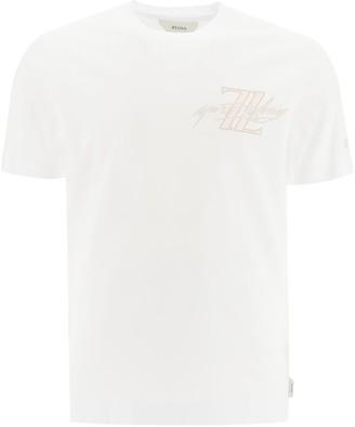 Ermenegildo Zegna BASIC T-SHIRT WITH LOGO L White Cotton