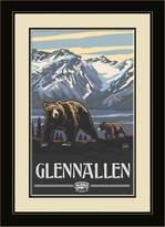 Northwest Art Mall PAL-1596 MFGDM AKG Glennallen Alaska Grizzlies Framed Wall Art by Artist Paul A. Lanquist, 13 by 16-Inch