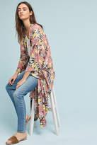 Anthropologie Pastel Floral Long Kimono