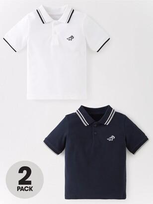 Very Boys 2 Pack Short Sleeve Polo Shirts