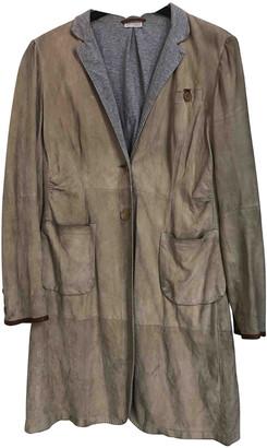 Brunello Cucinelli Beige Suede Coats