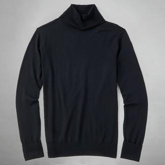 Tie Bar Perfect Merino Wool Turtleneck Black Sweater