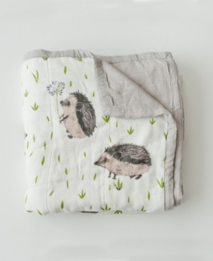 Little Unicorn Hedgehog Deluxe Muslin Quilt