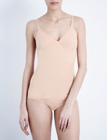Wolford Deep-plunge stretch-cotton top