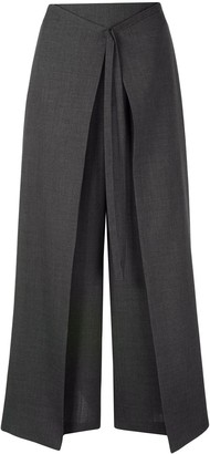 Enfold Pleat Detail Palazzo Trousers