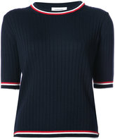 Thom Browne striped trim knit T-shirt