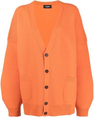 DSQUARED2 oversized V-neck cardigan