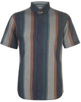 Farah Short Sleeve Donnally Stripe Shirt Mens