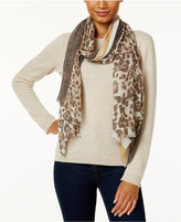 Vince Camuto Racing Cheetah-Print Oblong Scarf