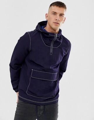 Asos Design DESIGN overhead jacket in navy