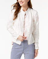 INC International Concepts I.n.c. Fringed Floral-Embroidered Jacket, Created for Macy's
