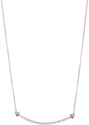 ADORNIA Mercer Sterling Silver Swarovski Crystal Accented Pendant Necklace
