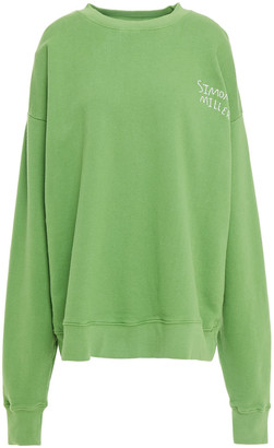 Simon Miller Embroidered French Cotton-terry Sweatshirt