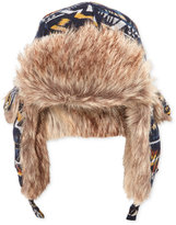 American Rag Men's Trapper Hat with Faux-Fur Trim, Only at Macy's