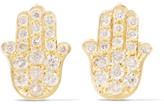 Jennifer Meyer Mini Hamsa 18-karat Gold And Diamond Earrings - one size