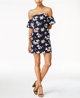 J.o.a. Floral-Print Off-The-Shoulder Dress