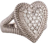 Judith Ripka Pavé Diamond Heart Ring