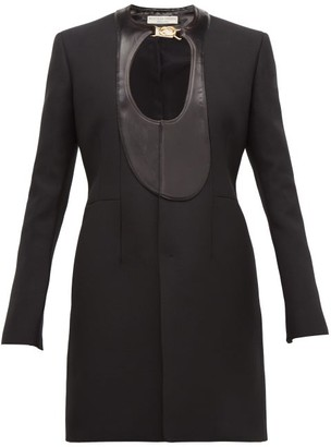 Bottega Veneta Single-breasted Satin-panel Coat - Black
