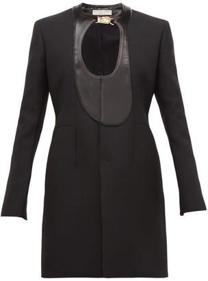Bottega Veneta Single-breasted Satin-panel Coat - Womens - Black