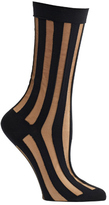 Ozone Women's Sheer Pinstripe Crew Socks