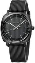 Calvin Klein Mens's Swiss Highline Black Rubber Strap Watch 40mm K5M314D1