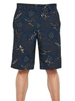 Givenchy Paisley Plane Poplin Bermuda Shorts