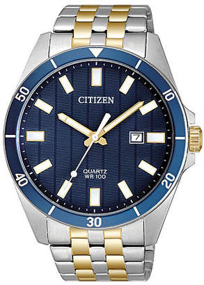 Citizen Quartz Mens Two Tone Stainless Steel Bracelet Watch-Bi5054-53l Family