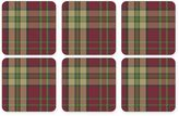 Pimpernel Glen Lodge Tartan Red Square Coasters (Set of 6)