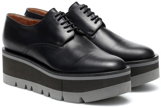 Clergerie Bradie leather platform Derby shoes