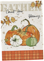 'Count Your Blessings' Pumkin Dish Towel Set