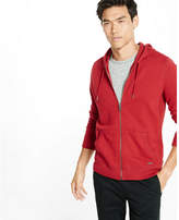 Express Fleece Waffle Detailed Zip-up Hoodie