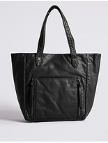 M&S Collection Faux Leather Tote Bag