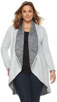 Soybu Plus Size Ada Reversible Cardigan Coat