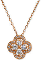 Giani Bernini Cubic Zirconia Halo Cluster Pendant Necklace, Created for Macy's
