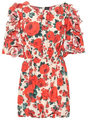 Magda Butrym Lleida floral silk dress