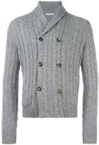 Malo cable knit buttoned cardigan