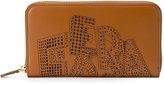 Salvatore Ferragamo laser-cut logo wallet