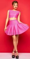 Mac Duggal Pleated Two Piece Mini Dress