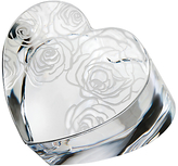 Monique Lhuillier for Waterford Sunday Rose Heart Paperweight