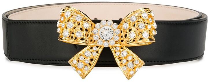 Versace Bow Embellished Belt
