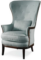 One Kings Lane Grant Wingback Chair, Seaglass Linen