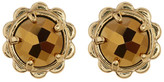 Kate Spade Gold Plated Scallop Edge Stone Stud Earrings